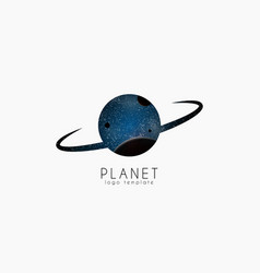 Planet logo space logotype cosmic vector