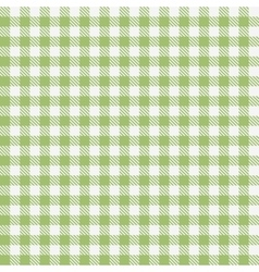 Green checkered tablecloths pattern vector