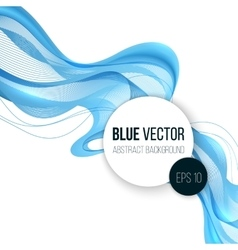 Abstract blue wavy lines vector