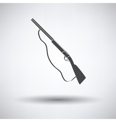 Hunt gun icon vector