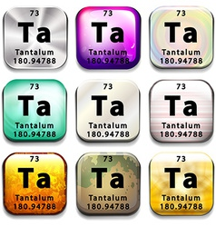 A button showing the element Tantalum vector image vector image