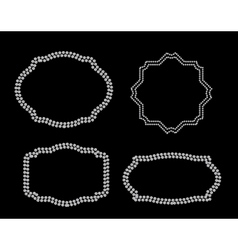 Abstract beautiful black frame diamond background vector