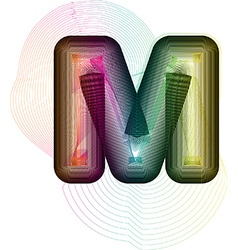 Abstract colorful Letter M vector image