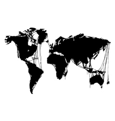 Abstract grim world map halloween background vector
