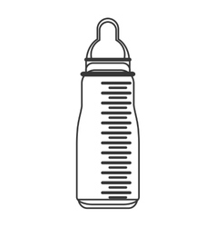 Baby milk bottle icon vector