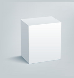 Blank isolated box mockup with shadow 1 vector