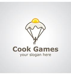 cook games logo vector image vector image