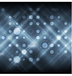 Dark shiny blue abstract tech futuristic vector