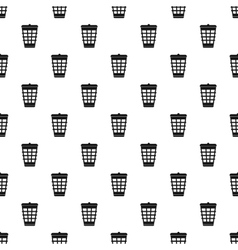 Dustbin for garbage pattern simple style vector