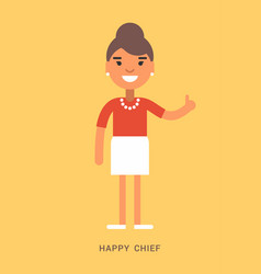 expressions and emotions happy chief smiling vector image vector image