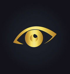 eye watch gold logo vector image vector image