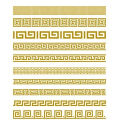 Gold Meander Patterns vector image