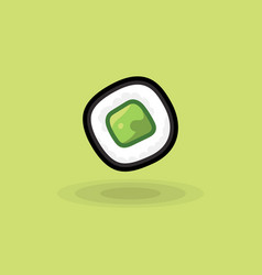 Icon japanese fresh roll with cucumber vector