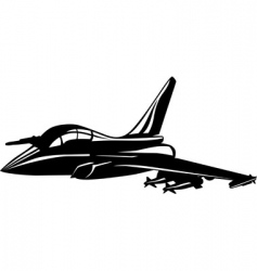 Jet fighter vector