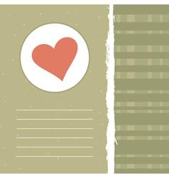 Love retro background vector