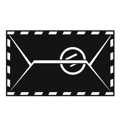 mail envelope with a stamp icon simple style vector image