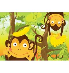 monkeys vector image vector image