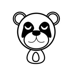 outline panda head animal vector image vector image