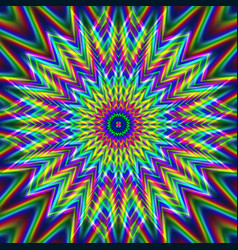 Psychedelic kaleidoscopic seamless pattern vector