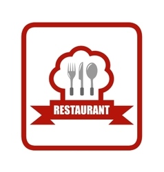 red restaurant icon vector image vector image