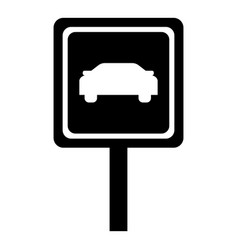 road sign icon simple style vector image vector image