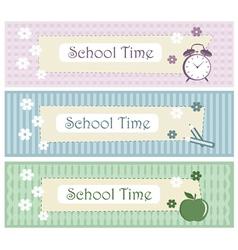 school background set vector image