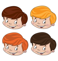 set of head boy vector image vector image
