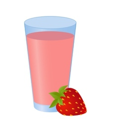 Strawberry smoothie vector image