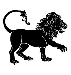 Stylised lion vector