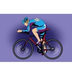 Summer kinds of sports Cycling vector image vector image