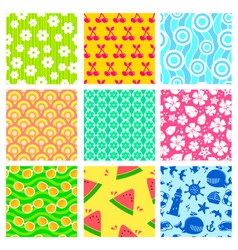 summer patterns vector image