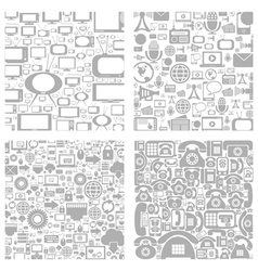 Technics a background vector image vector image
