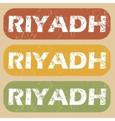 Vintage riyadh stamp set vector