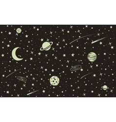 Vintage space background vector