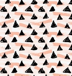 Artistic color brushed black triangles on grunge vector