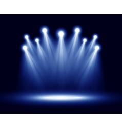 Group of realistic spotlights lighting vector