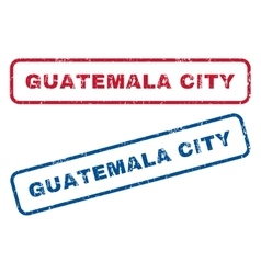 Guatemala city rubber stamps vector