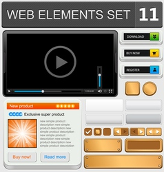 web elements set 11 vector image