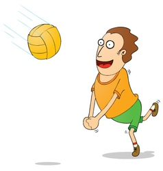 Playing volleyball vector