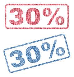 30 percent textile stamps vector