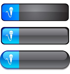 Mic button set vector