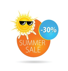 Summer sale sun happy color vector