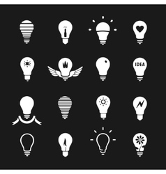 Set of symbols lamp vector