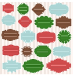 Set of gift tags for christmas presents vector
