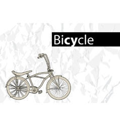 Outline bicycle vector