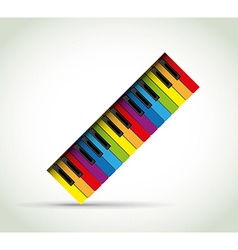 Colorful piano rol vector