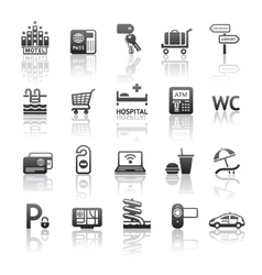 Pictograms hotel services vector