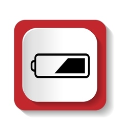 icon battery vector image