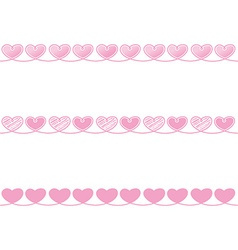 Love heart ribbon rope decor inspiration idea vector