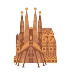Italy building cathedral milan catholic church vector